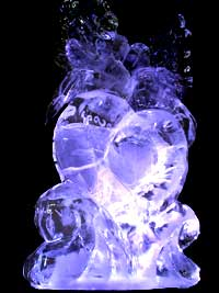 Kissing doves ice sculpture Object virtual reality